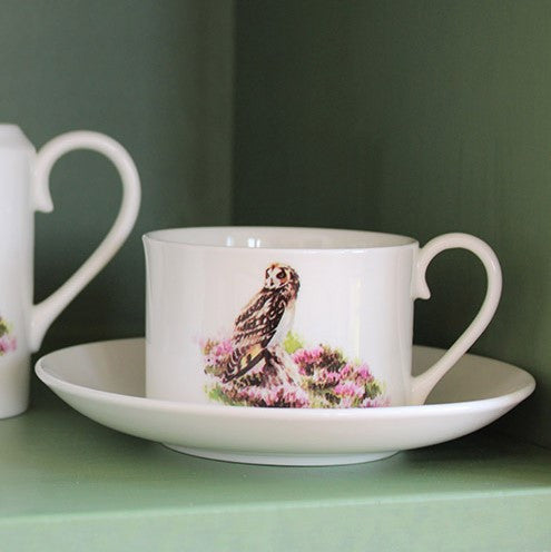 Orkney Storehouse | Short-eared Owl Teacup and Saucer Lifestyle