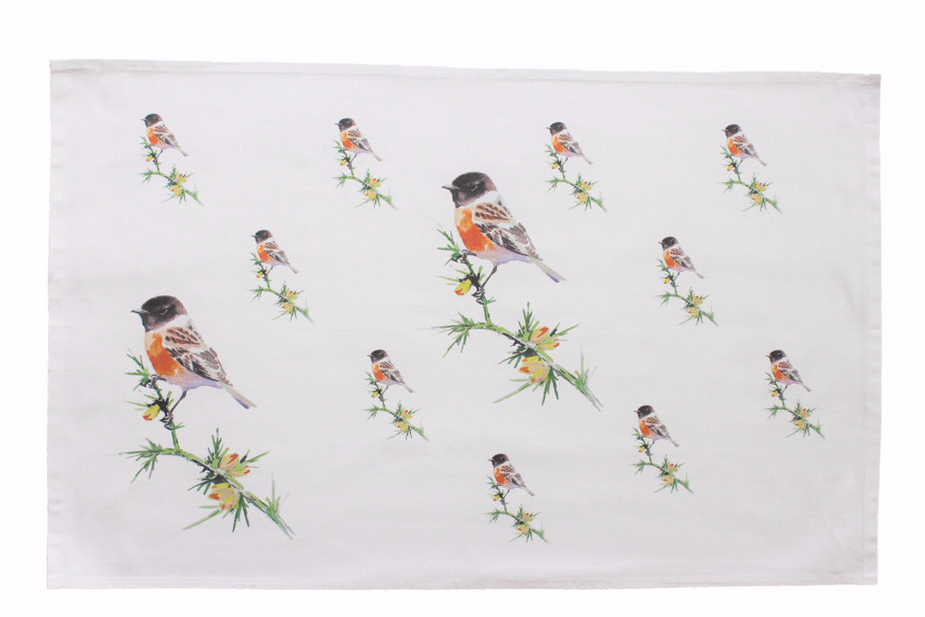 Orkney Storehouse | Stonechat Tea Towel Repeating Product