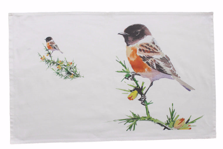 Orkney Storehouse | Stonechat Tea Towel Feature Product