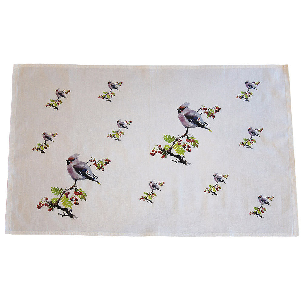 Orkney Storehouse | Waxwing Tea Towel Repeating Product