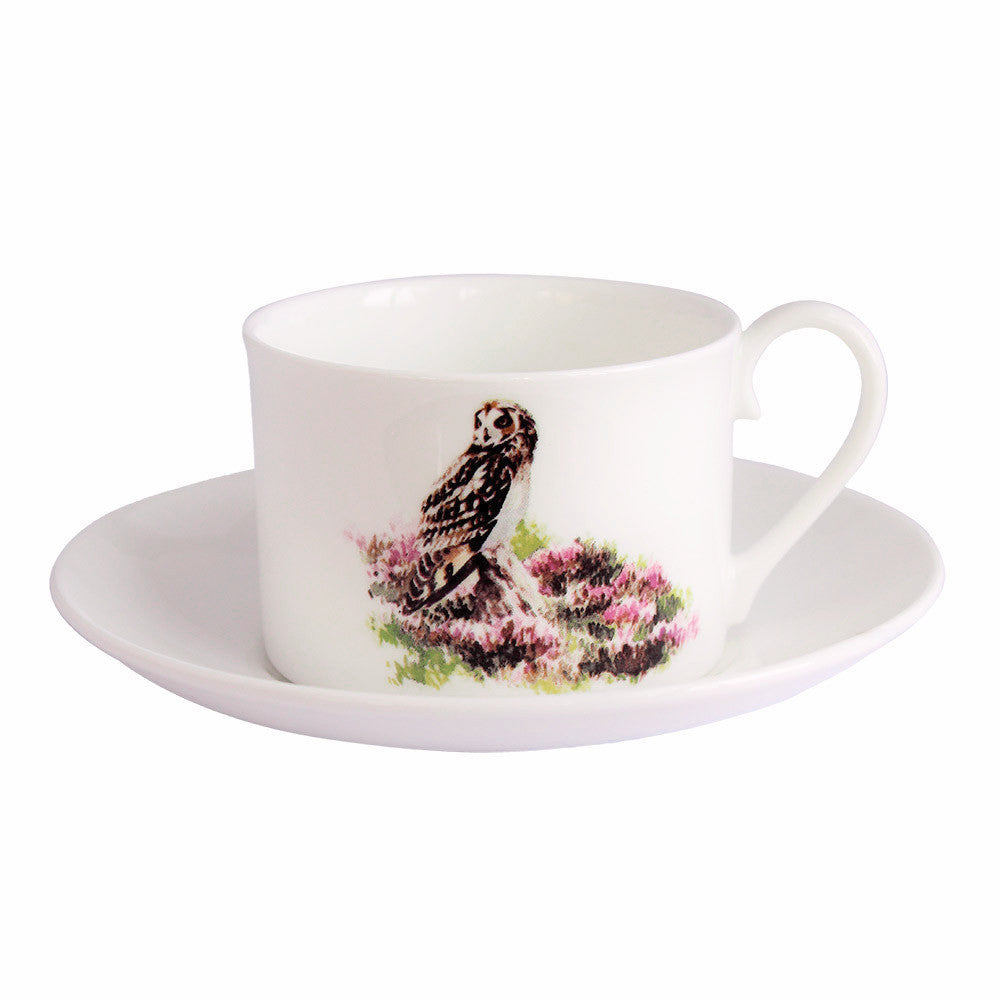 Orkney Storehouse | Short-eared Owl Teacup and Saucer Product