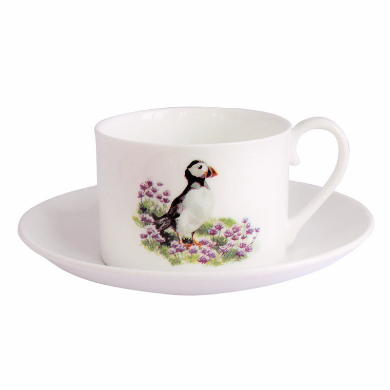 Orkney Storehouse | Puffin Teacup and Saucer Product