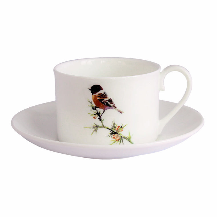 Orkney Storehouse | Stonechat Teacup and Saucer Product