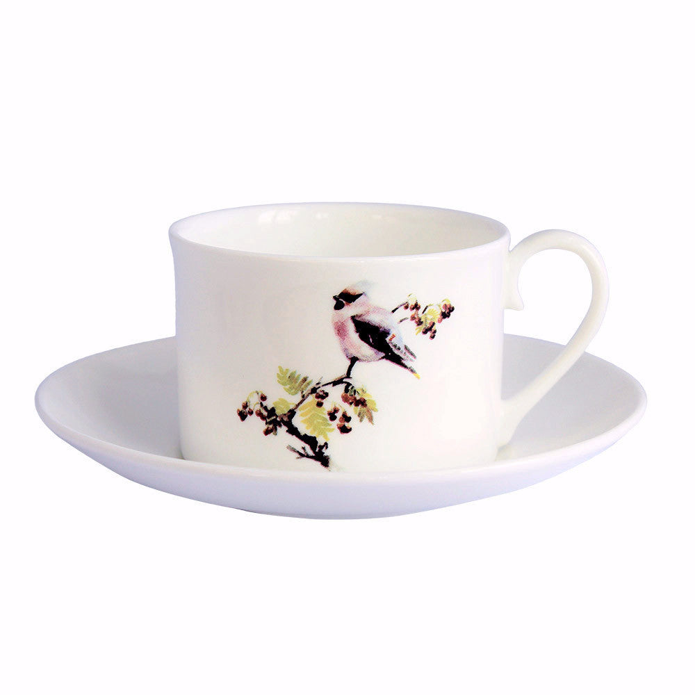 Orkney Storehouse | Waxwing Teacup and Saucer Product