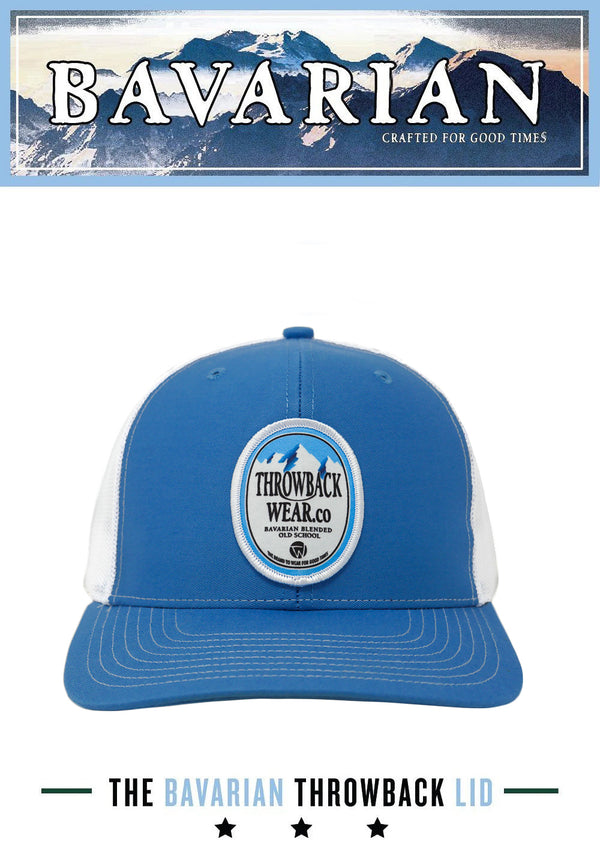 Bavarian Snapback Hat - Smooth Blue