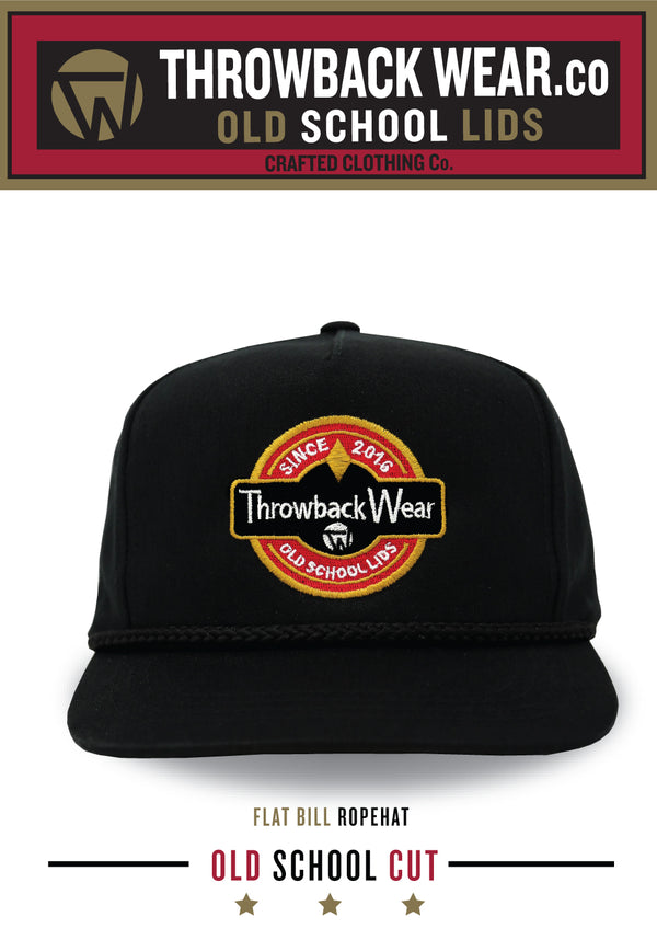 OLD SCHOOL CUT - FLAT BILL ROPE HAT