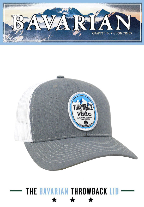 Bavarian Snapback Hat - Cool Grey