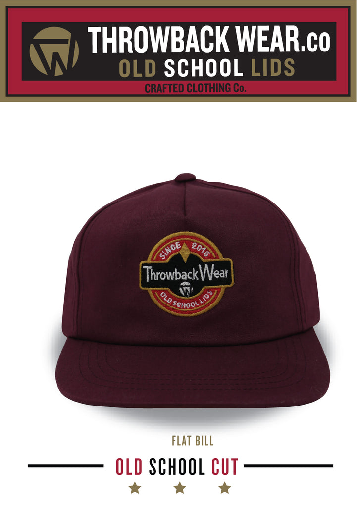 OLD SCHOOL CUT - FLAT BILL MAROON