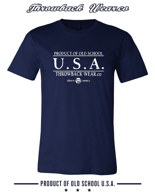 Product of Old School USA T-Shirt Throwback Wear