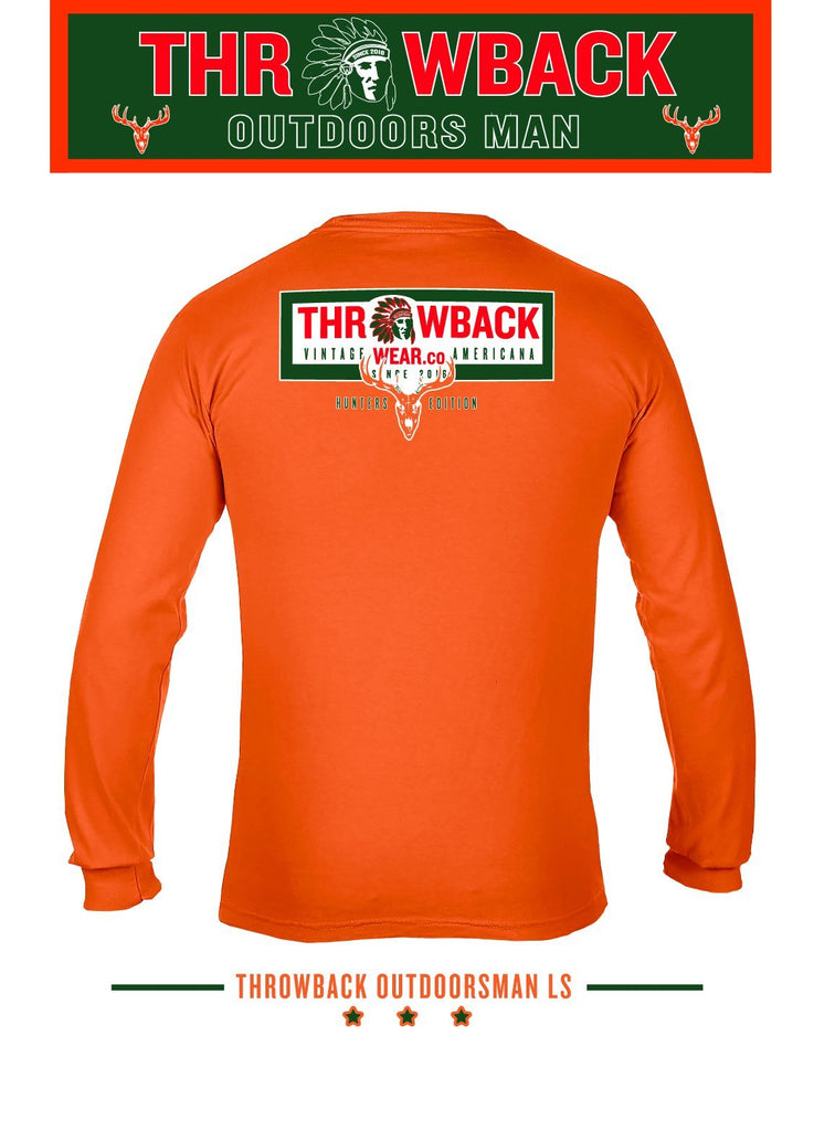 Red Chief Throwback Outdoorsman Long Sleeve Long Sleeve Shirt Throwback Wear