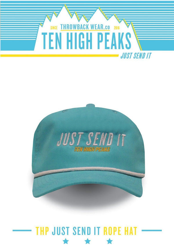 Ten High Peaks Just Send It Rope Hat - Blue Rope Hat Throwback Wear