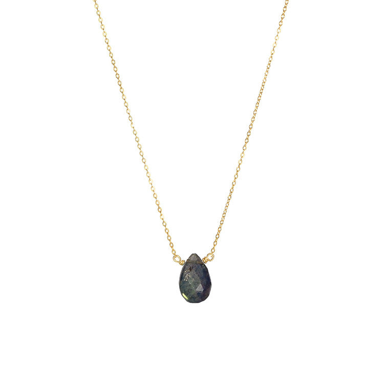Dark Blue Labradorite Necklace