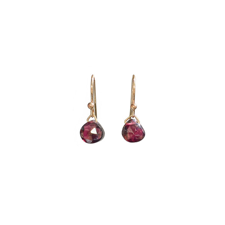 Petite Garnet Earrings