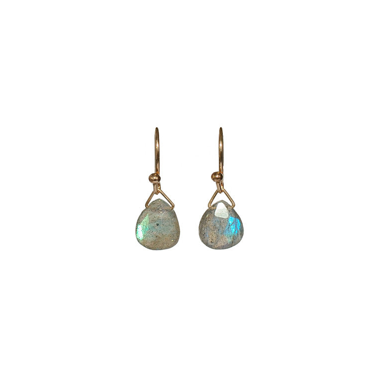 Petite Labradorite Earrings