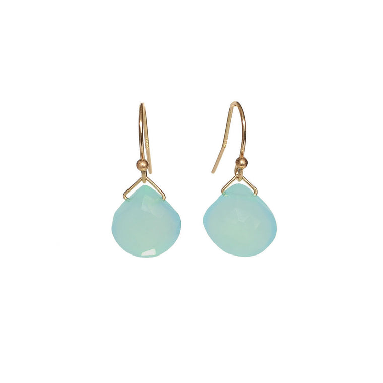Turquoise Chalcedony Earrings