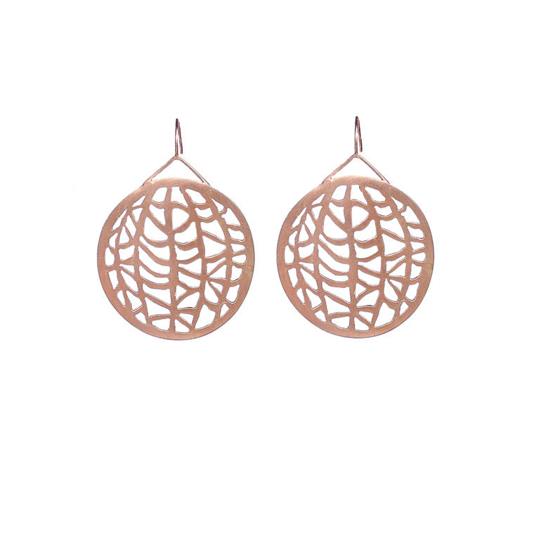 Large Circle Vanda Earrings