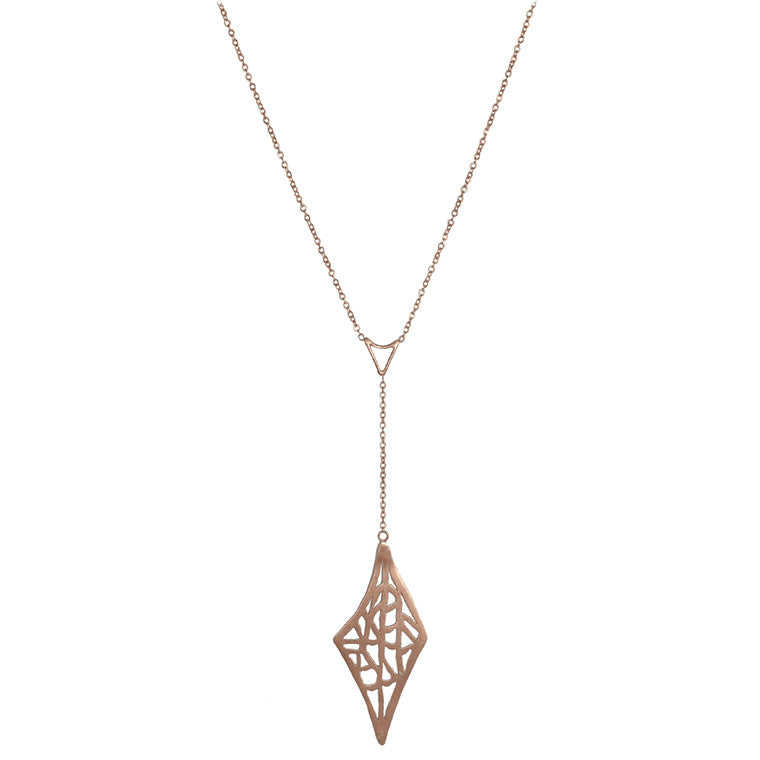 Diamond Vanda Lariat Necklace
