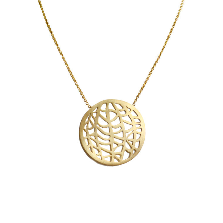 Large Circle Vanda Necklace