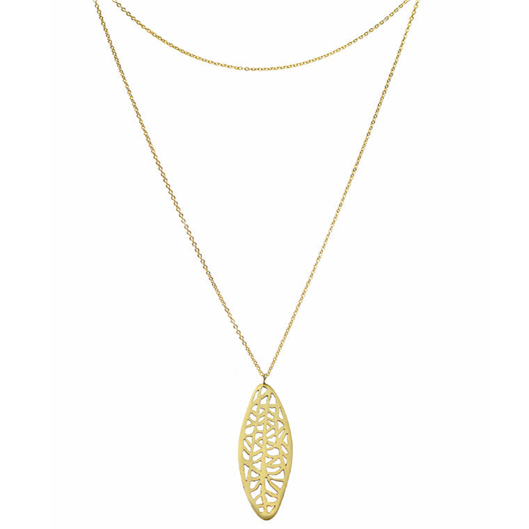 Long Oval Vanda Necklace