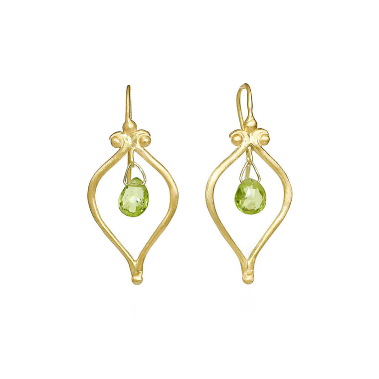 Whats Old is New Vermeil Peridot Earrings