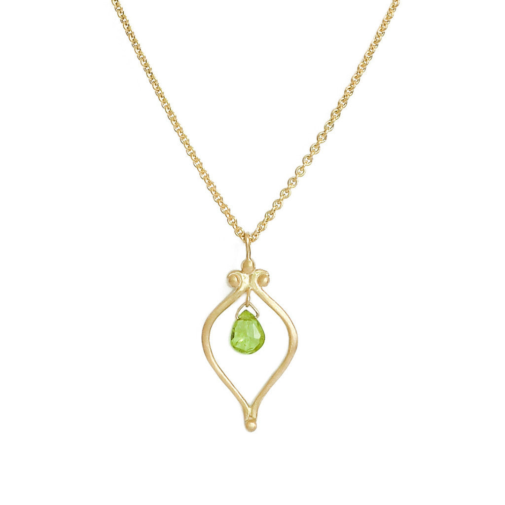 Whats Old is New Vermeil Peridot Necklace