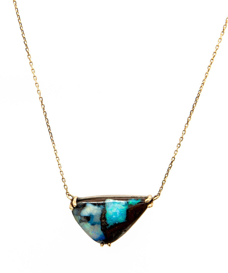 Unique Boulder opal Necklace