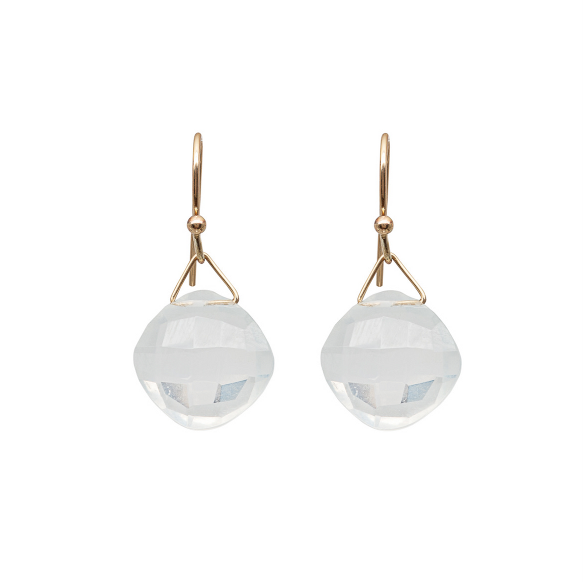 Ice quartz drop earrings