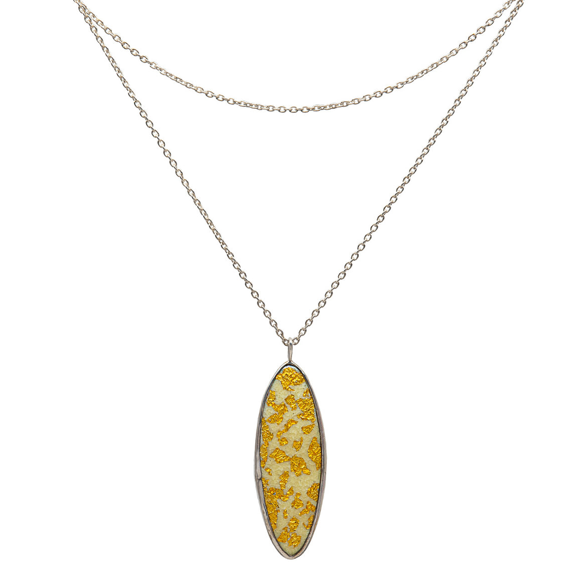 24kt gold leaf multi layer necklace