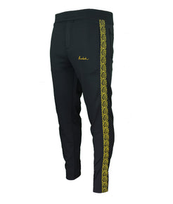 Yellow Chevron Tracksuit Bottoms