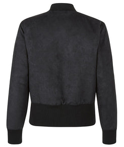 Black Field Cropped Bomber Jacket - MARBEK