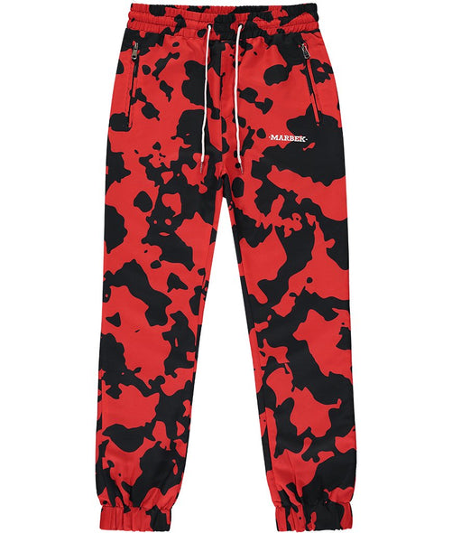 Neo DPM Camo Tracksuit Bottoms Red