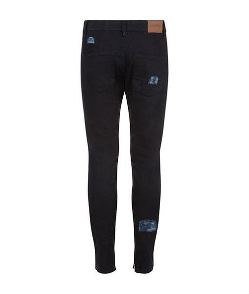 Triple Patch Navy Denim Pants