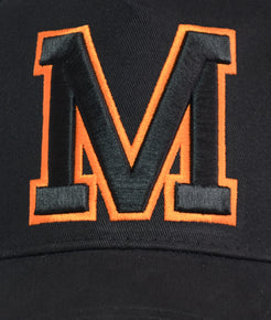 Black And Orange Outline Cap