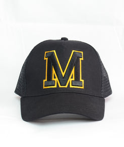 Black and Yellow Outline Cap