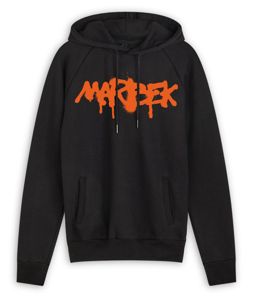 Black and Orange Graffiti Hoodie Marbek