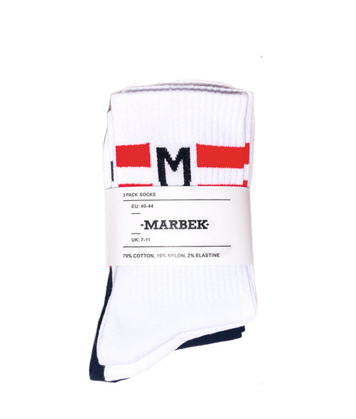 Logo Ribbed Stretch Cotton-Blend Socks