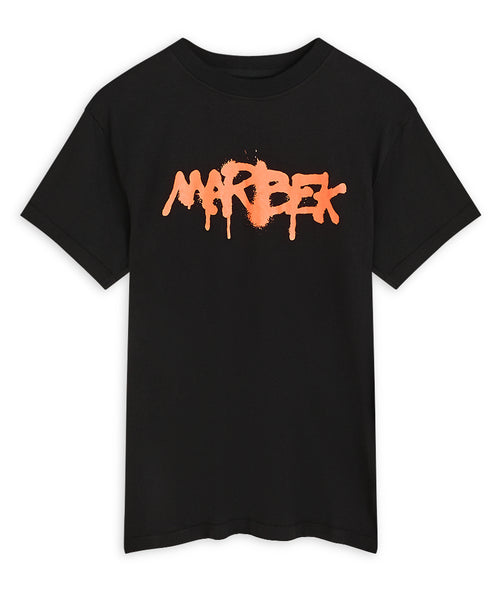 Black and Orange Graffiti T-shirt Marbek