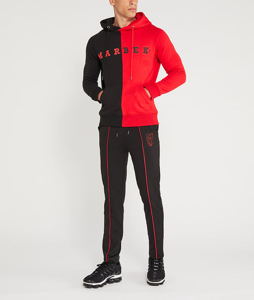 Red Logo Menace Track Pants