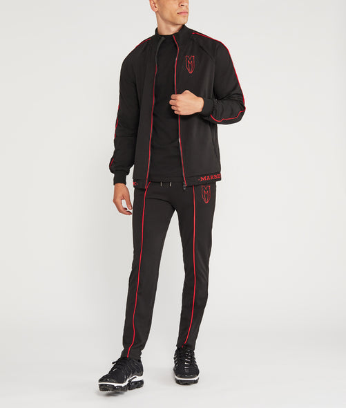 Red Logo Menace Track Jacket