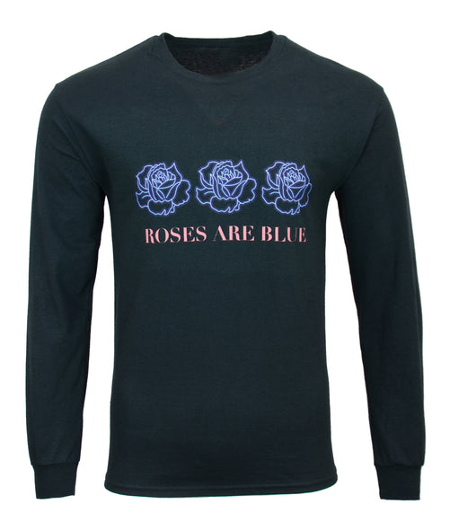 Blue Roses Long Sleeve Tee
