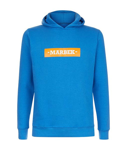 Essentials Box Logo Blue Hoodie
