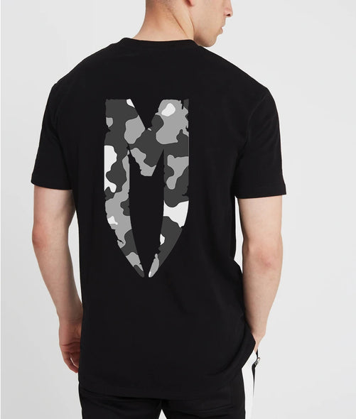 Camo M Logo T-Shirt Grey