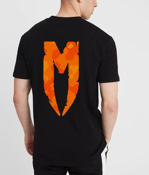 Camo M Logo T-Shirt Orange