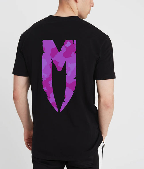 Camo M Logo T-Shirt Purple