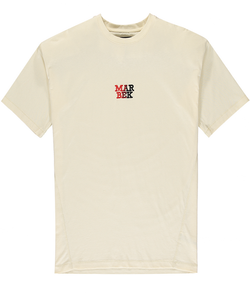 Cream Fade Logo T-Shirt Red/Black
