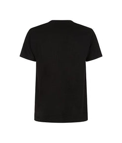 Essentials Blue Box Logo Black Tee