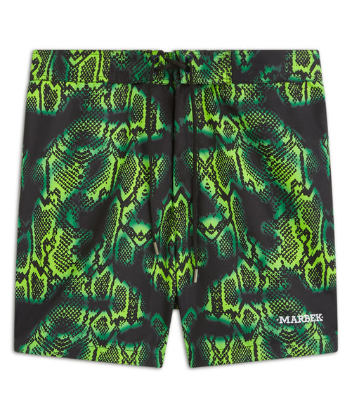 Slimey Green Print Trunks