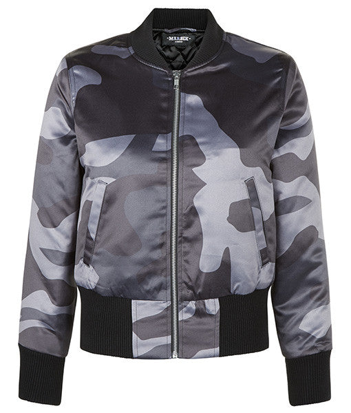 Grey DPM Cropped Bomber Jacket