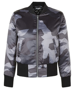 Grey DPM Cropped Bomber Jacket - MARBEK