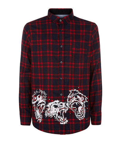 Triple Monkey Flannel Shirt